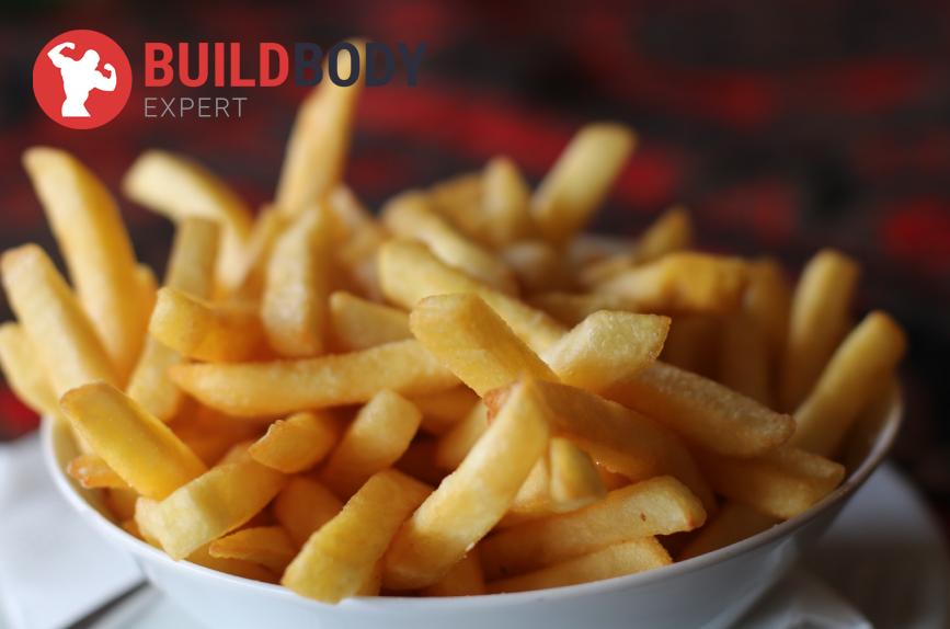 продукты с большим количеством быстрых углеводов- жареный картофель