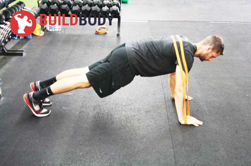 Отжимания с фитнес-эспандером