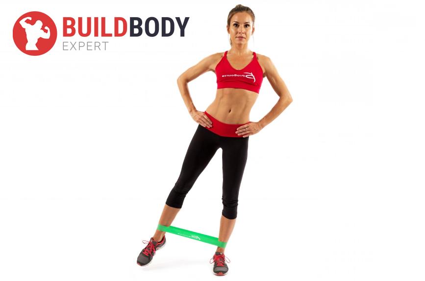 Упражнение – отведение ноги стоя в бок